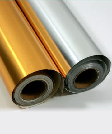 Metallised paper